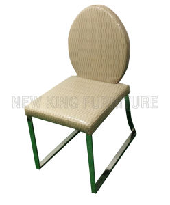 Modern Luxurious Stainless Steel Foot PU Leather Dining Chair (NK-DC094)
