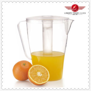 Plastic Juice Pitcher with Ice Tube (LFR4373) pictures & photos
