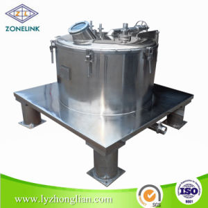 Full Stainless Steel Food Standard Top Discharge Flat Filter Centrifuge for Removing Solid Content pictures & photos