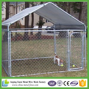 High Quality Chain Link Fence Dog Kennels with Frame Top