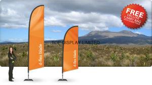 Customized Fiberglass Pole Teardrop Beach Feather Flying Flag pictures & photos