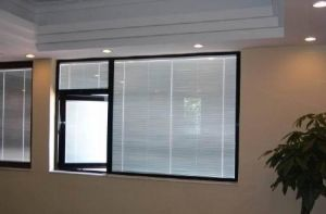 PVC Window with Blinds Inside