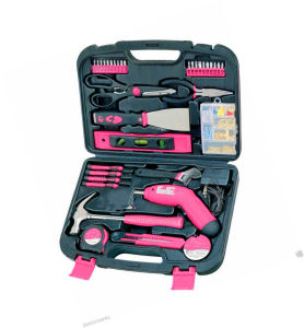 137PCS Pink Laies Tool Kit with Drill Set (FY137B1) pictures & photos