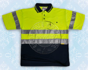 Men′s Safety Polo Shirt with Reflective Tape pictures & photos