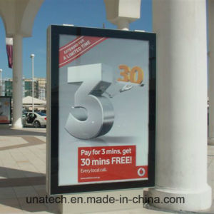 Outdoor Vertical Advertising Media Textile Fabric Standing Free Film Muppy LED Light Box pictures & photos