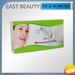 Ultrasonic Skin Scrubber Machine Home Use 3 in 1 Deep Cleaning Skin Whiting pictures & photos