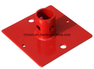 Painting or Powder Coated Scaffold Steel Base Plate for Scaffold Frames pictures & photos