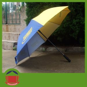 One Color Printed Golf Umbrella for Promotion pictures & photos