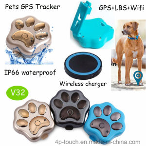 Waterproof IP66 GPS Pet Tracker with LED Light (V32) pictures & photos