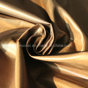 Shiny Polyester Nylon Fabric for Down Jacket (SLTN9026-2) pictures & photos