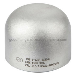 Stainless Steel Pipe Fittings Caps with CE