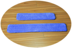 Microfiber Flat Mop Pad with Hook & Loop (YYFM-40) pictures & photos