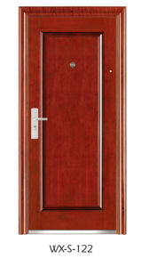 Hotsale Steel Security Door (WX-S-122) pictures & photos