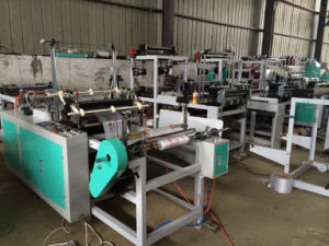 Flat Plastic Bag Cutting Rolling Bag Making Machine pictures & photos
