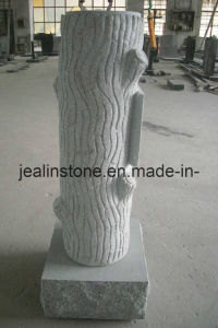 Tree Trunk Headstone
