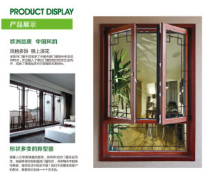Simplicity Aluminum Compouding Larch Wood Composite Windows with Arch (Tilt & Turn)