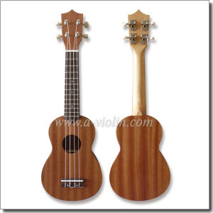 "21"" Soparano Mahogany Plywood Hawaii Ukulele (AU07L-21) pictures & photos"