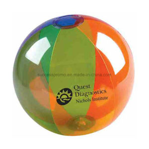 Transparent PVC Inflatable Beach Ball with Customized Logo pictures & photos