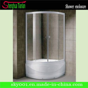 Portable Corner Clear Glass Simple Bathroom Shower Box (TL-548) pictures & photos