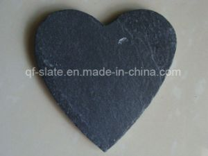 [Factory Direct] 30X30cm Natural Edge Heart Shape Slate Plate