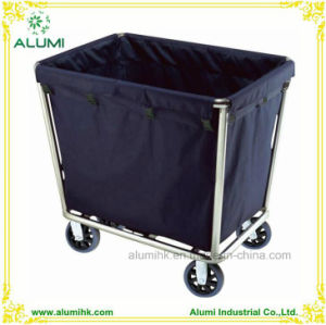 Hotel Stainless Steel Blue Color Linen Housekeeping Cart pictures & photos