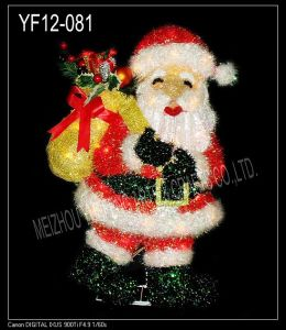 Red Tinsel Christmas Santa Clause (YF12-081)