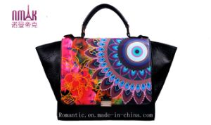 Hot Selling Hot Stamping Embroding Print Flower PU Cross Bags Tote Bag S Satchel (F57) pictures & photos