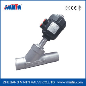 H5-Pneumatic Welded Ends Angle Seat Valve pictures & photos