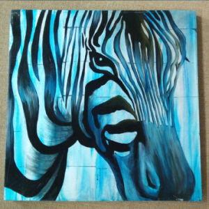 High Quality Pure Hand-Painted Oil Painting Abstract Art on Canvas Zebra (LH-031000) pictures & photos