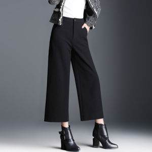 Fashion Black Latest Design Flare Pants for Official Ladies pictures & photos
