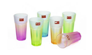 Frosted Glass Cup Color Glass Mug with Decal Kb-Jh06197 pictures & photos