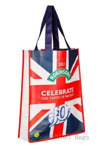 Robinsons Promo Laminated Non-Woven Tote Bag (hbnb-403) pictures & photos