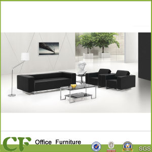 Modern Design Black Leather Office Sofa pictures & photos