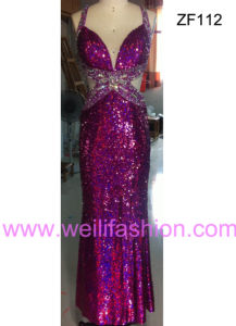 Cheap Long Sexy Beading Applique Sequin Evening Dresses
