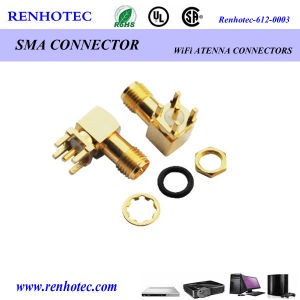 SMA Ipx Connector PCB Mount Right Angle Sdi Connector pictures & photos