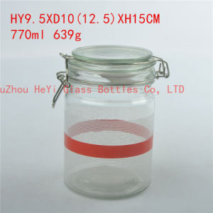 770ml Glass Container Food Glass Jar with Seal pictures & photos