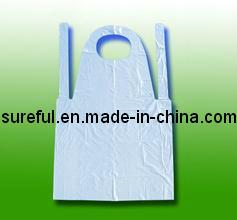 HDPE Disposable Apron/Disposable Plastic PE Apron pictures & photos