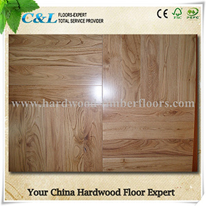 High Quality Clear Texture Solid Oak Wooden Parquet Flooring