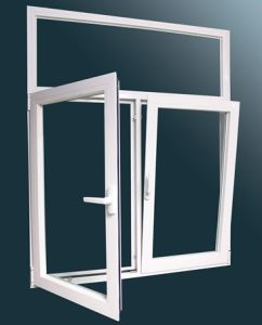 White Color Cheap Aluminium Alloy Glass Tilt Turn House Windows