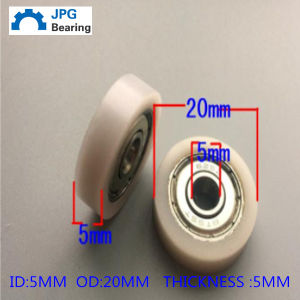 BS5 * 20 * 5 Blackboard Track Pulley, 625zz Plastic Pulley Bearing pictures & photos