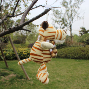 Free Shipping Nici Plush and Stuffed Toy Tiger with Sucker, Can Be Sucked on Glass, 20cm, 1PC