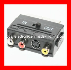 Scart Adapter, Scart Plug & 3RCA Jack and 4p Jack pictures & photos