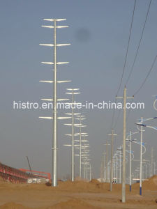 Painted or Galvanized Monopole Electric Transmission Tower pictures & photos