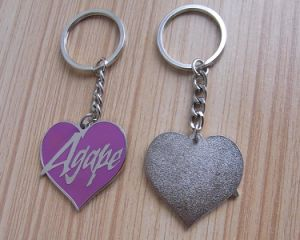 Die Cut Heart Shaped Cloisonne Key Chain (ASNY-key chain-CZ-017) pictures & photos