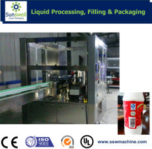 Automatic Line Roll-Fed Hot Melt Glue/OPP BOPP Labeling Machine pictures & photos