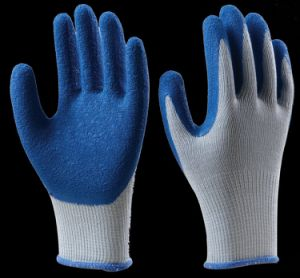 Crinkle Latex Safety Gloves Industrial Working Glove Cut Resistant and Acid Alkali pictures & photos
