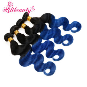 Ombre Color Human Hair Malaysian Virgin Hair Body Wave 14inches pictures & photos