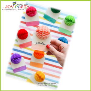 Tissue Paper Honeycomb Ball Seating Card pictures & photos