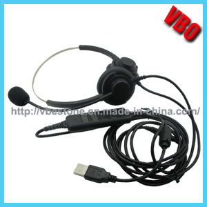 Cheap USB Headset Binaural Call Center USB Headset with Noise Cancelling Microphone pictures & photos