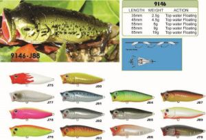 35mm-45mm-55mm-65mm-85mm Big Mouth Floating Popper a Top Factory′s Cheap Price --- High Quality Made Custom Hard Plastic Fishing Crankbait - Wobbler - Minnow- P pictures & photos